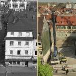 Blick von der Karlsburg in die Jägerstraße (1989)